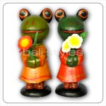 Bali Handicrfats Products - Flower Frogs Statue